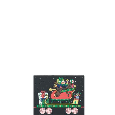 """Santa's Sleigh Train Car from Vintage North Pole handcrafted from 3/4"""" thick wood by The Cat's Meow Village in the USA"""