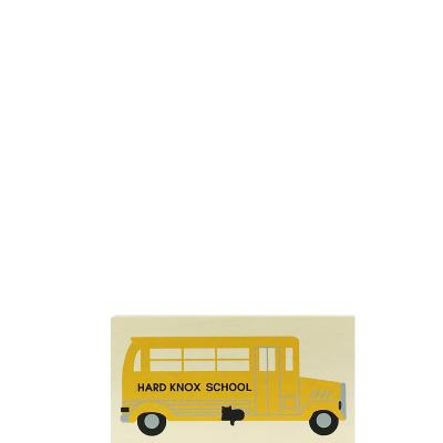 """Vintage School Bus from Accessories handcrafted from 1/2"""" thick wood by The Cat's Meow Village in the USA"""