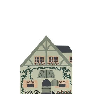 """Vintage Seven Dwarfs House from Fairy Tale Series handcrafted from 3/4"""" thick wood by The Cat's Meow Village in the USA"""