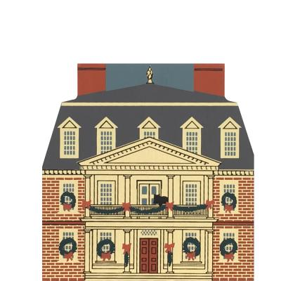 "Vintage Shirley Plantation from Colonial Virginia Christmas Series handcrafted from 3/4"" thick wood by The Cat's Meow Village in the USA"