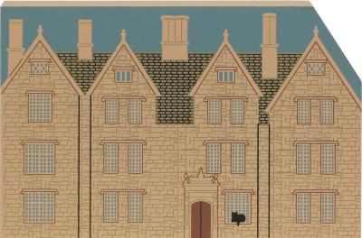 Wooden handcrafted keepsake of Country Hotel replica created by The Cat's Meow Village