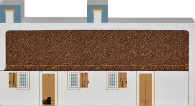 "Burns Cottage, Alloway, Scotland from Great Britain Series handcrafted from 3/4"" thick wood by The Cat's Meow Village in the USA"