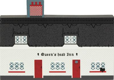 "Queens Head Inn, Blyford, England from Great Britain Series handcrafted from 3/4"" thick wood by The Cat's Meow Village in the USA"