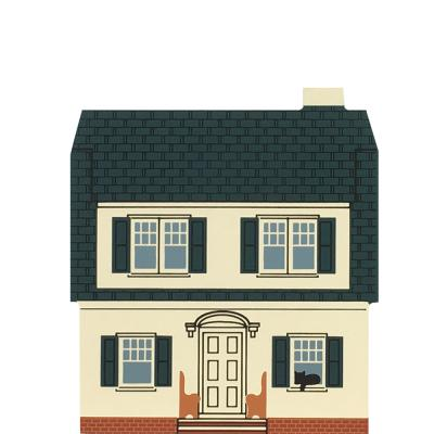 """Vintage The Puritan House from Series VIII handcrafted from 3/4"""" thick wood by The Cat's Meow Village in the USA"""