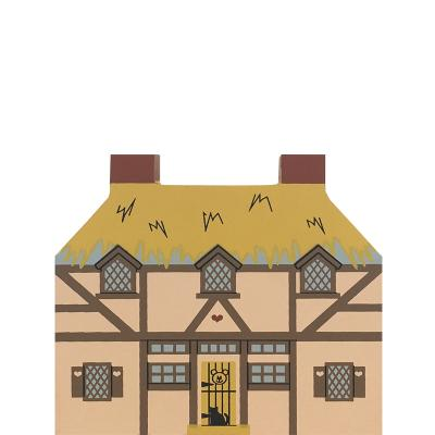 """Vintage Three Bears House from Fairy Tale Series handcrafted from 3/4"""" thick wood by The Cat's Meow Village in the USA"""