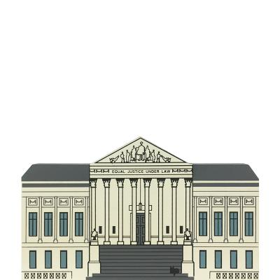 "Vintage U.S. Supreme Court from Washington D.C. Series handcrafted from 3/4"" thick wood by The Cat's Meow Village in the USA"
