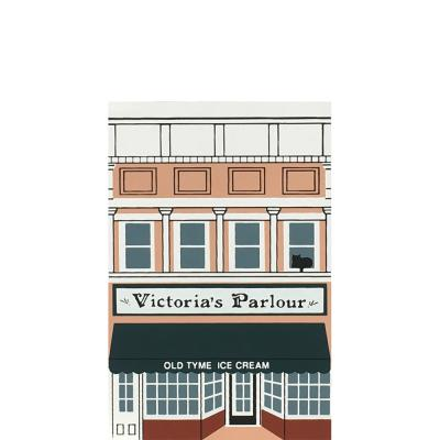 "Vintage Victoria's Parlour from Series VIII handcrafted from 3/4"" thick wood by The Cat's Meow Village in the USA"