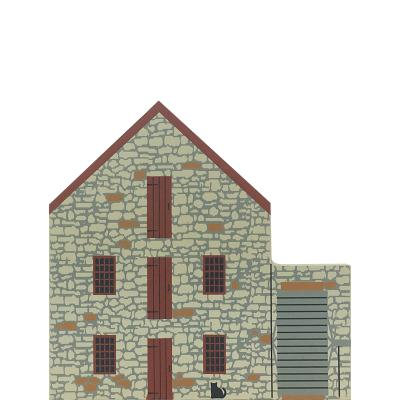 "Vintage Wayside Inn Grist Mill from Series XIV handcrafted from 3/4"" thick wood by The Cat's Meow Village in the USA"