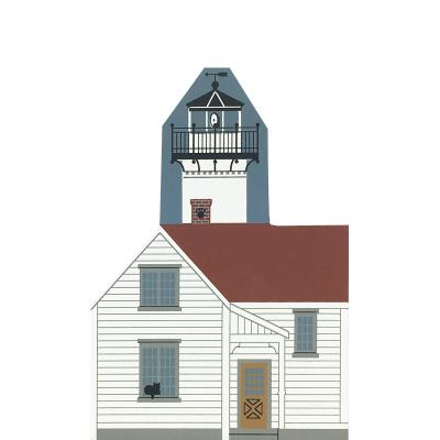 "Vintage West Chop Lighthouse from Martha's Vineyard Series handcrafted from 3/4"" thick wood by The Cat's Meow Village in the USA"
