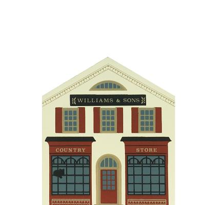 """Vintage Williams & Sons Country Store from Series VI handcrafted from 3/4"""" thick wood by The Cat's Meow Village in the USA"""