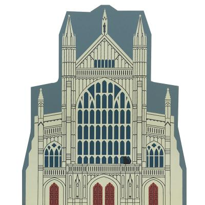 """Vintage Winchester Cathedral from English Traveler Series handcrafted from 3/4"""" thick wood by The Cat's Meow Village in the USA"""