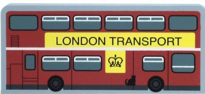 Cat's Meow Village souvenir of the famous double decker London bus