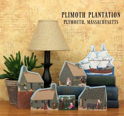 Save $4 when you order these Plimoth Plantation keepsakes together as a set. Handcrafted of wood in the USA by The Cat's Meow Village