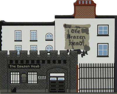 The Brazen Head Pub, Dublin, Ireland handcrafted from wood by The Cat's Meow Village