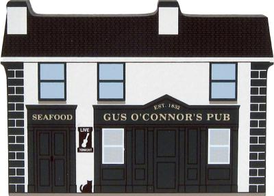 Handcrafted wooden souvenir of Gus O'Connor's Pub, Doolin, County Clare, Ireland by The Cat's Meow Village