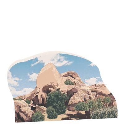 "Skull Rock, Joshua Tree Natl Park, Twentynine Palms, CA. Handcrafted in the USA 3/4"" thick wood by Cat's Meow Village."