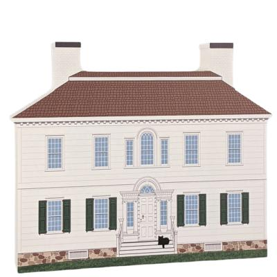 """Ford Mansion, Morristown, New Jersey. Handcrafted in the USA 3/4"""" thick wood by Cat's Meow Village."""