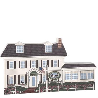 """Beautifully detailed replice of Chatham Wayside Inn, Chatham, Cape Cod, Massachusetts. Handcrafted in the USA 3/4"""" thick wood by Cat's Meow Village."""