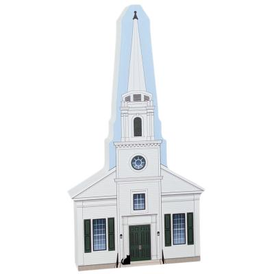 Gilmore Girls Stars Hollow Church handcrafted by The Cat's Meow Village in the USA.