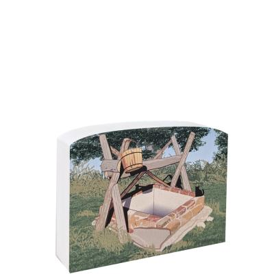 The Well, Laura Ingalls Wilder located in Osage Diminished Reserve, Kansas. Handcrafted in the USA by The Cat's Meow Village.
