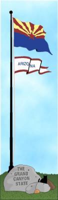 Cat's Meow State Flag representing Arizona