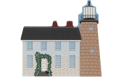 Wooden Cat's Meow Village keepsake of White Head Lighthouse