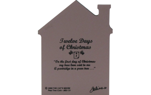 Back of Pear Tree Cafe, Twelve Days Of Christmas Collection