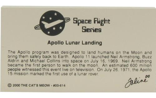 Back of Apollo Lunar Landing, July 20, 1969
