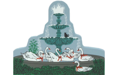Seven Swans Fountain-Twelve Days Of Christmas Collection