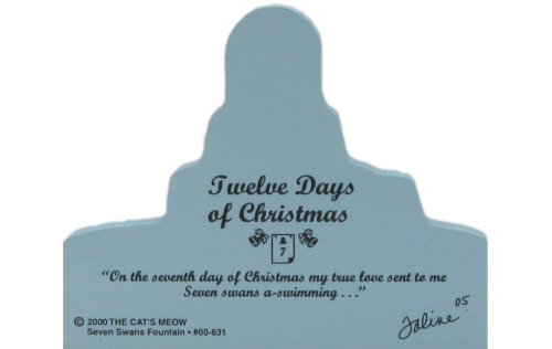 Back of Seven Swans Fountain-Twelve Days Of Christmas Collection