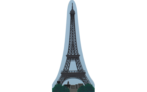 Wooden souvenir of the Eiffel Tower, Paris, France handcrafted by The Cat's Meow Village