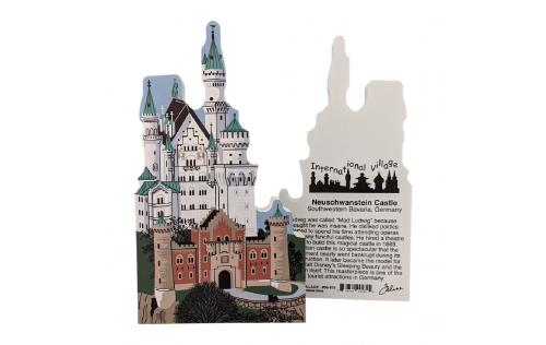 Front & Back of Neuschwanstein Castle.  Made by Cat's Meow Village in the USA.