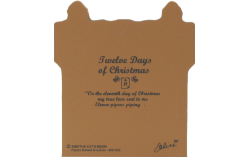 Back of Pipers Baked Goodies - Twelve Days of Christmas Collection