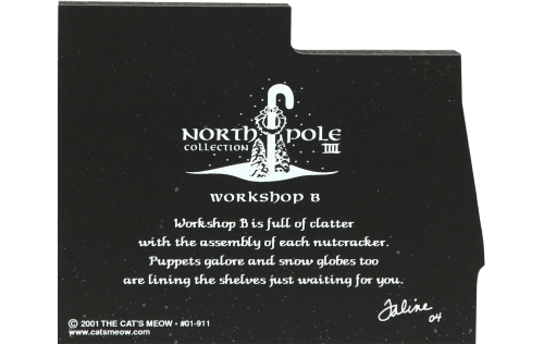 """Workshop B from Vintage North Pole handcrafted from 3/4"""" thick wood by The Cat's Meow Village in the USA"""