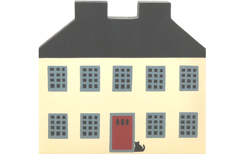 """Vintage Federal House from Series I handcrafted from 3/4"""" thick wood by The Cat's Meow Village in the USA"""