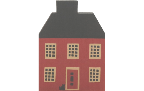 "Vintage Garrison House from Series I handcrafted from 3/4"" thick wood by The Cat's Meow Village in the USA"
