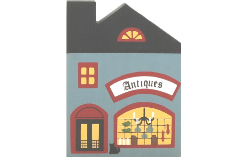 """Vintage Antique Shop from Series I handcrafted from 3/4"""" thick wood by The Cat's Meow Village in the USA"""