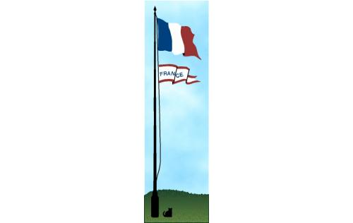 French Flag handcrafted in wood by The Cat's Meow Village
