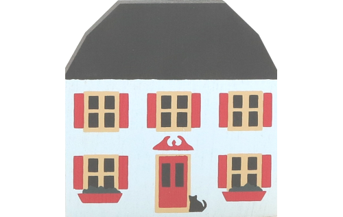 """Vintage Brocke House from Series II handcrafted from 3/4"""" thick wood by The Cat's Meow Village in the USA"""