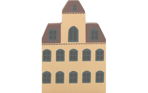 """Vintage Eaton House from Series II handcrafted from 3/4"""" thick wood by The Cat's Meow Village in the USA"""