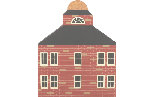 """Vintage Town Hall from Series II handcrafted from 3/4"""" thick wood by The Cat's Meow Village in the USA"""