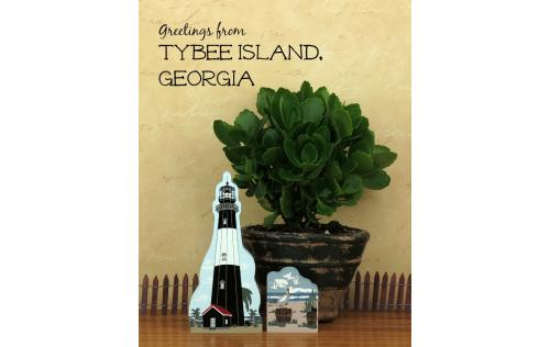 Remember your trip to Tybee Island with a handcrafted wooden keepsake of the Tybee Island Light and the Coastal Birds