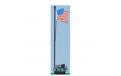 United States flag accessory item to accompany The Cat's Meow Village handcrafted building replicas.
