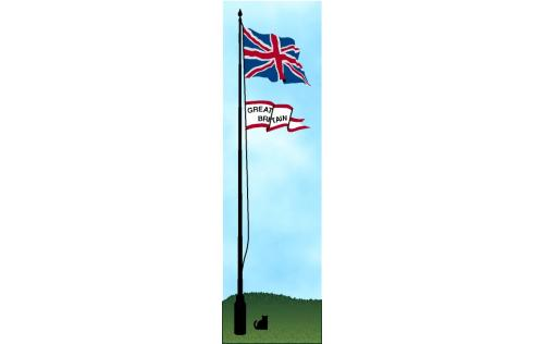 Cat's Meow wooden souvenir of the Union Jack Flag of Great Britian