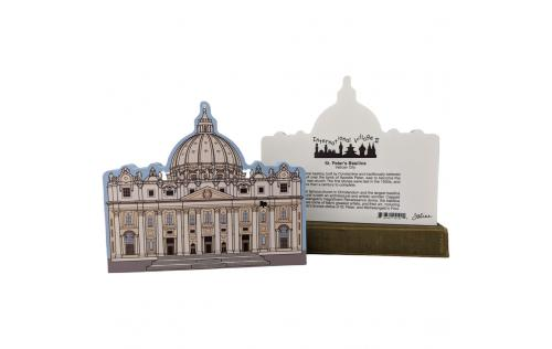 Front & Back of St. Peter's Basilica, Vatican City, Rome, Italy, Pieta, Renaissance.  Made by Cat's Meow VIllage, USA.