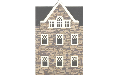 "Vintage Hobart-Harley House from Series III handcrafted from 3/4"" thick wood by The Cat's Meow Village in the USA"