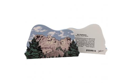 Front & Back of Mt. Rushmore in the Black Hill of South Dakota, faces of Washington, Jefferson, Lincoln, Roosevelt.  Made by Cat's Meow Village, USA.