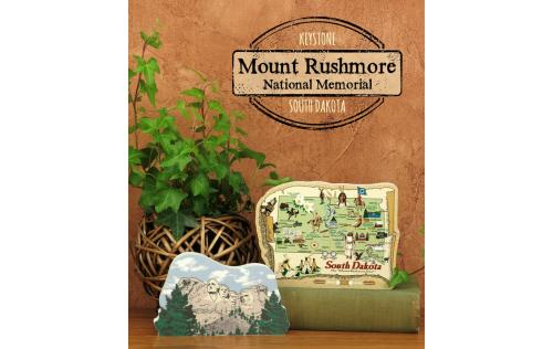 Remember your trip to Mount Rushmore with a handcrafted in the US wooden keepsake by The Cat's Meow Village