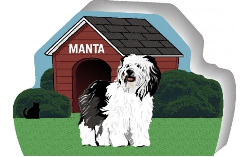 Polish Lowland Sheepdog can be personalized with your dog's name
