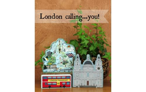 Bring London trip home with  Cat's Meow handcrafted wooden souvenirs including St. Paul's Cathedral, England Map and Double Decker Bus